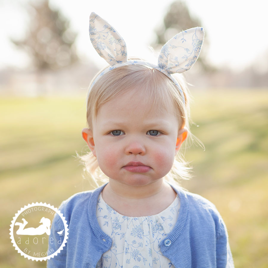 Tri-Cities, WA Adored by Meghan photography Family and Children's basic easter portraits with bunny ears
