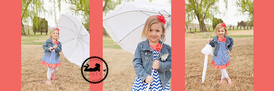 4x10 little girl with umbrella Storyboard Kennewick Children's Photographer Adored by Meghan