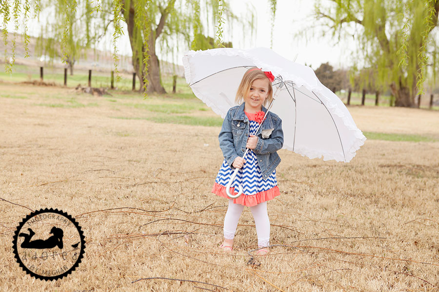 Little girl with umbrella 4x10 Storyboard Kennewick Children's Photographer Adored by Meghan