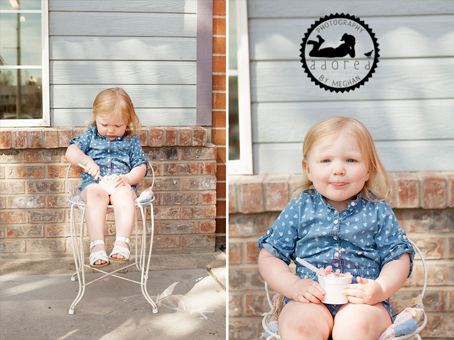 Some Bagels parlor shop ice cream gelato saltwater sandals Richland children's photographer adored by meghan rickard photography