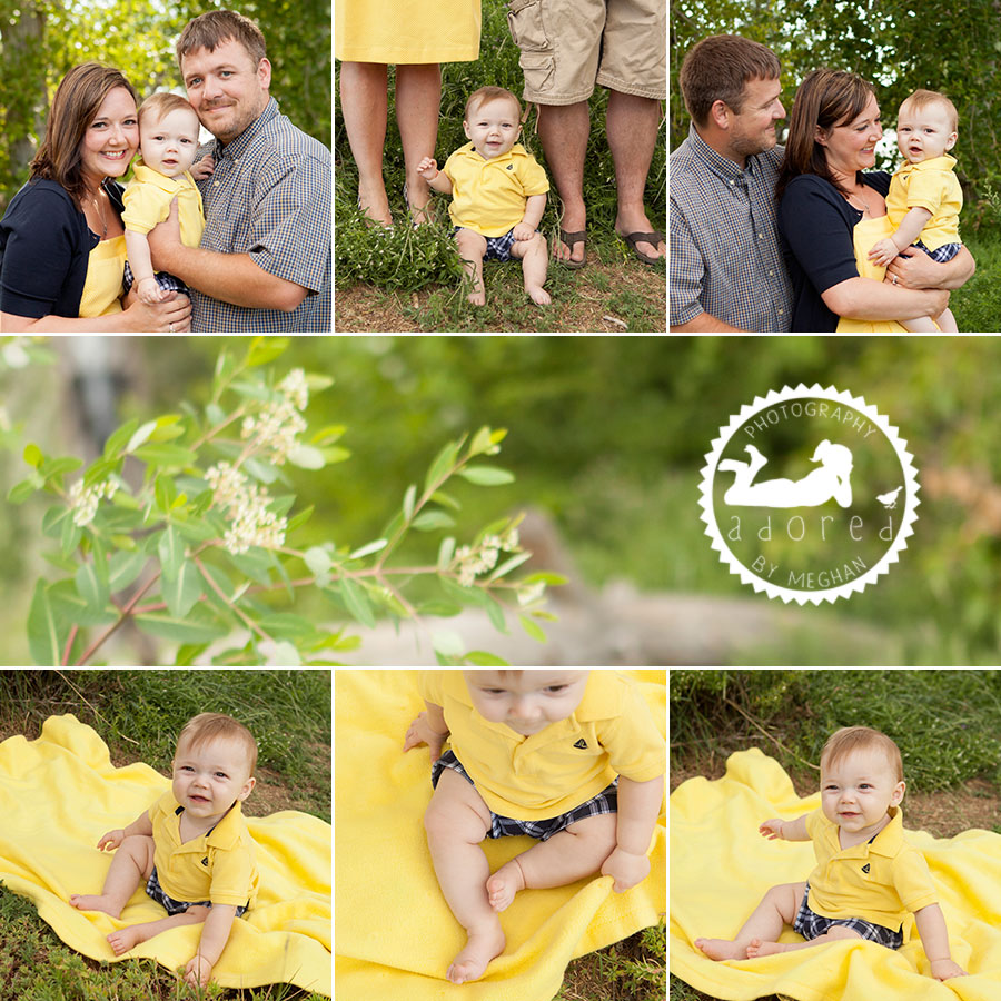 Family and baby outside Kennewick, WA Baby Photographer Adored by Meghan photography