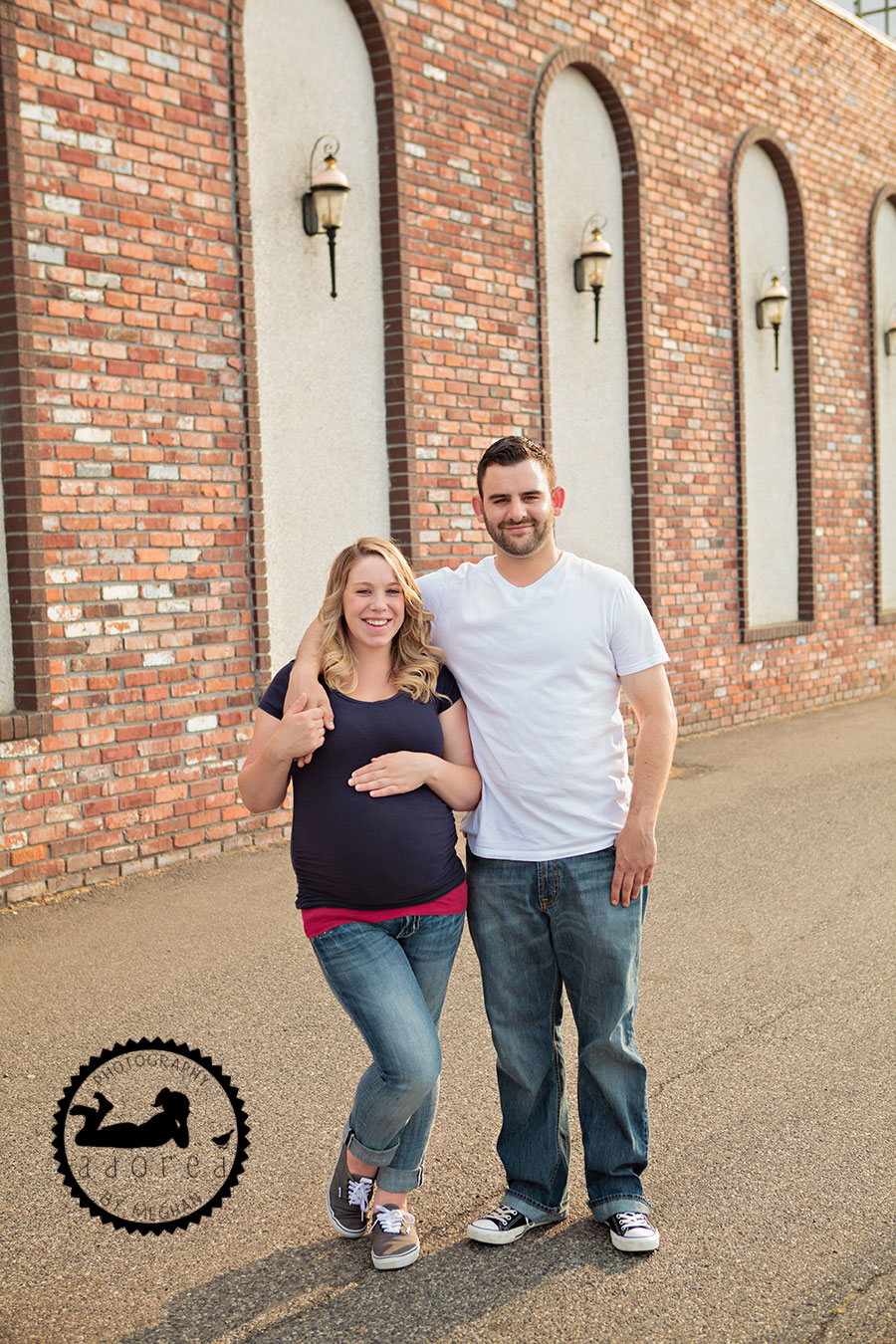 With hubby Kennewick, WA Maternity Photographer Adored by Meghan photography