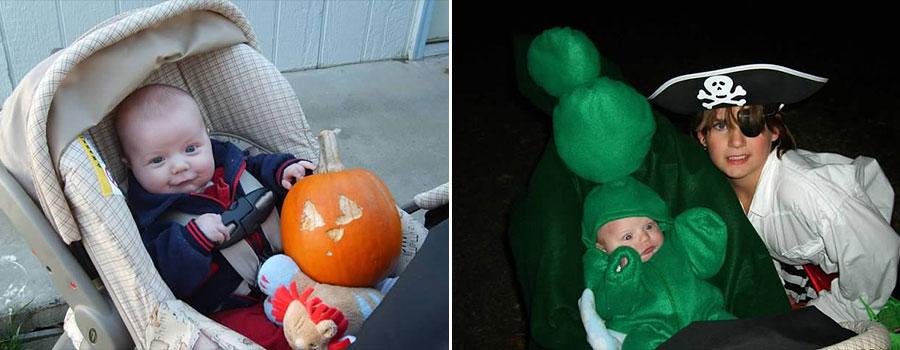 Baby Halloween pumpkin Pea in a pod pirate