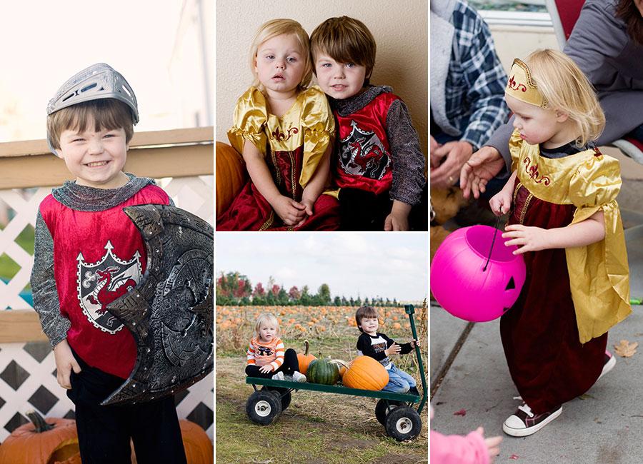 Toddler preschooler halloween knight in shining armor and renaissance princess job's nursery pumpkin patch