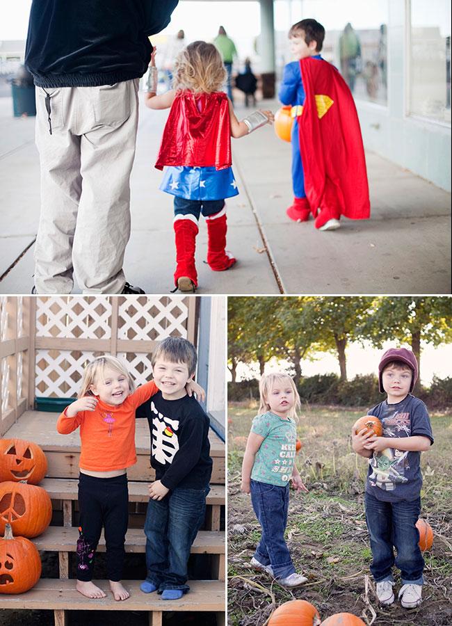 toddler and preschooler halloween job's nursery pumpkin patch super heroes wonder woman and superman