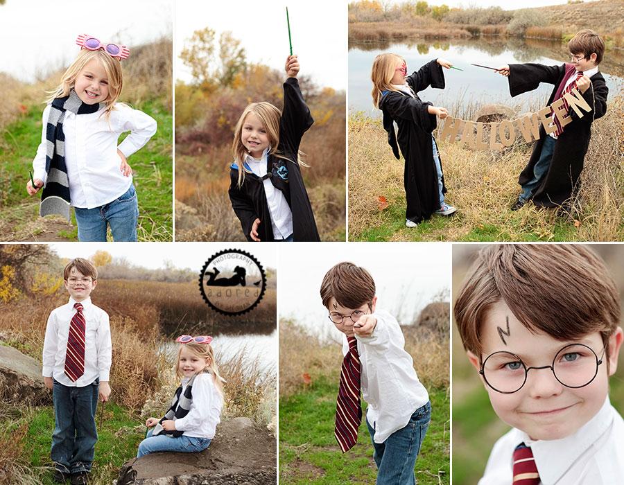 Preschooler and kids halloween harry potter and luna lovegood