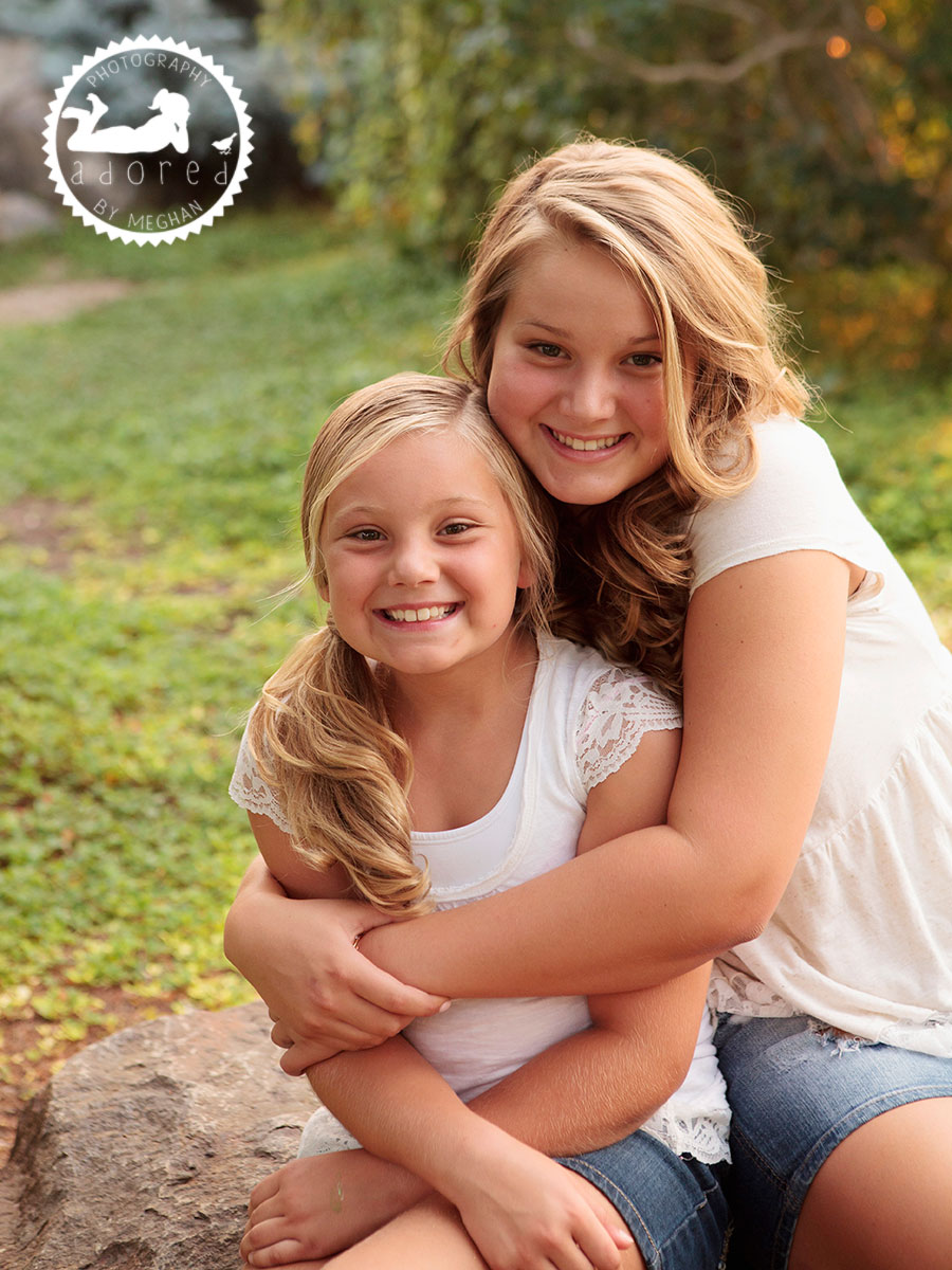 Sisters Library Union Gardens Childrens portraits kennewick wa adored by meghan