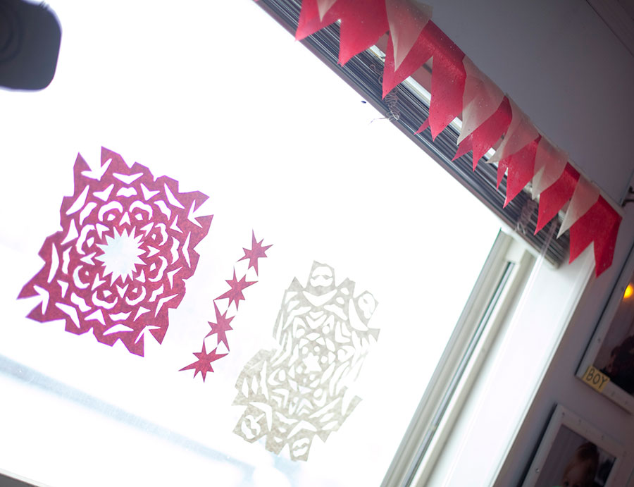 Adored by Meghan's holiday traditions to start or continue with your family Make Paper Snowflakes