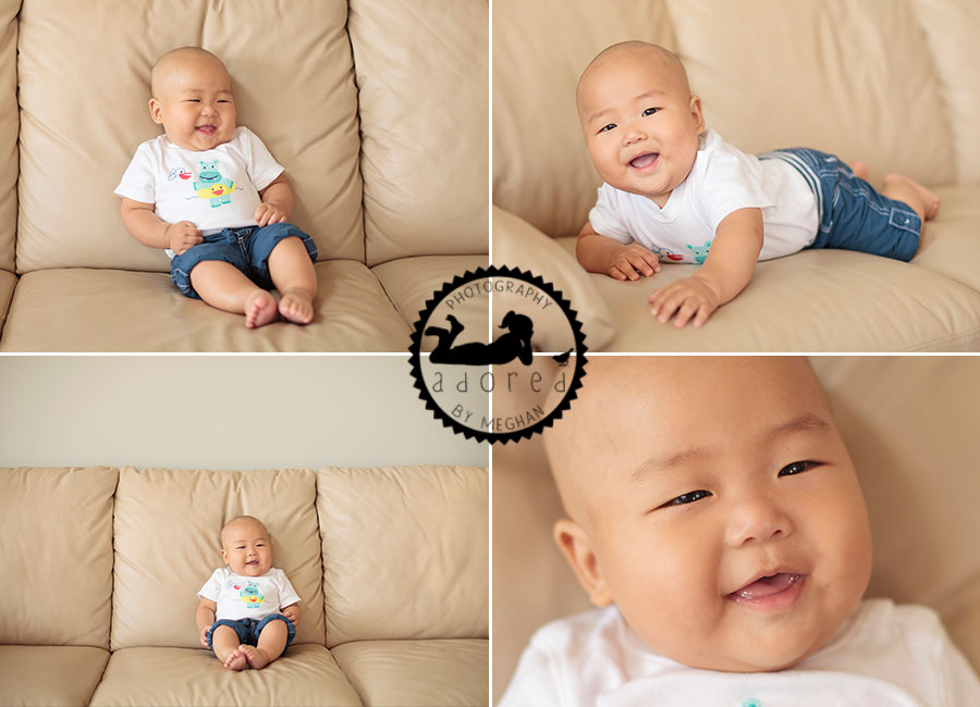 Milestone Baby Session Richland WA Photos by Adored by Meghan Rickard Photography
