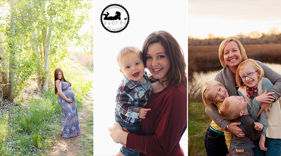 Give Mom a fabulous gift with a portrait session with Adored by Meghan out of Kennewick, WA