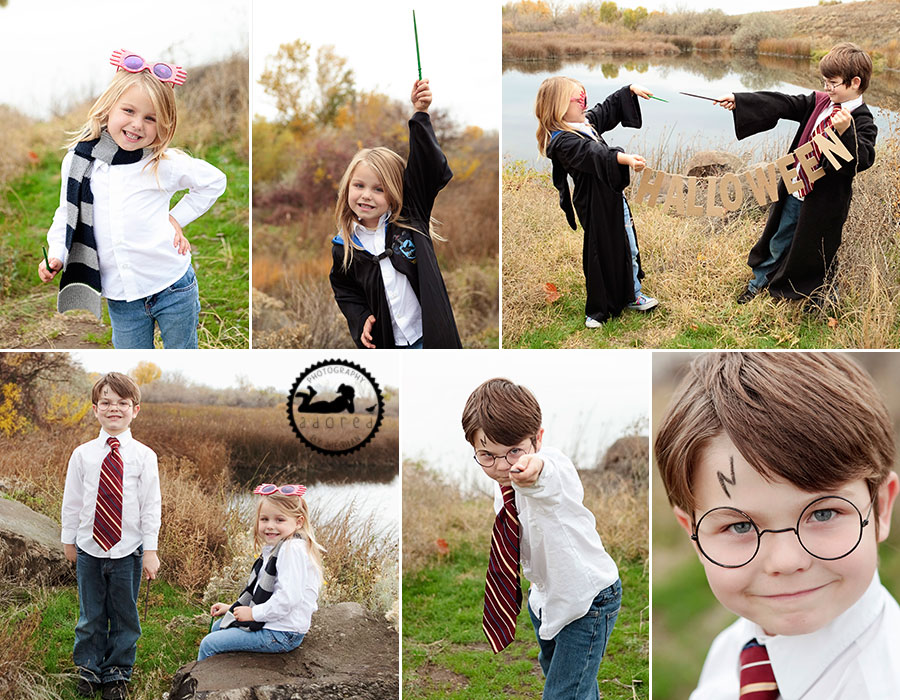 Harry Potter and Luna Lovegood Kids Halloween Costumes