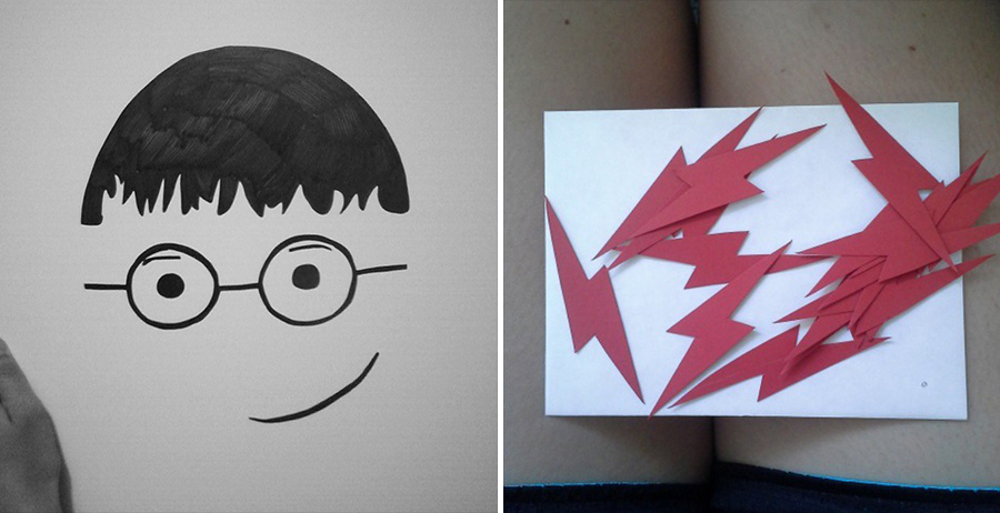 Pin the lightning bolt on Harry Potter for first birthday party
