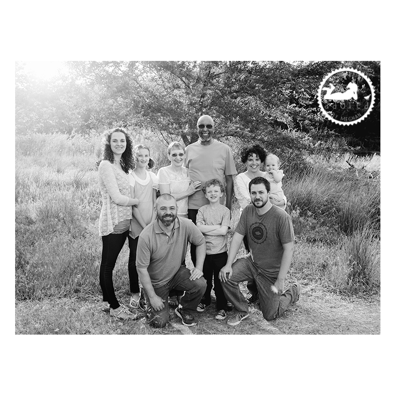 Black and white family portraits. Adored by Meghan Rickard photography in Kennewick, WA