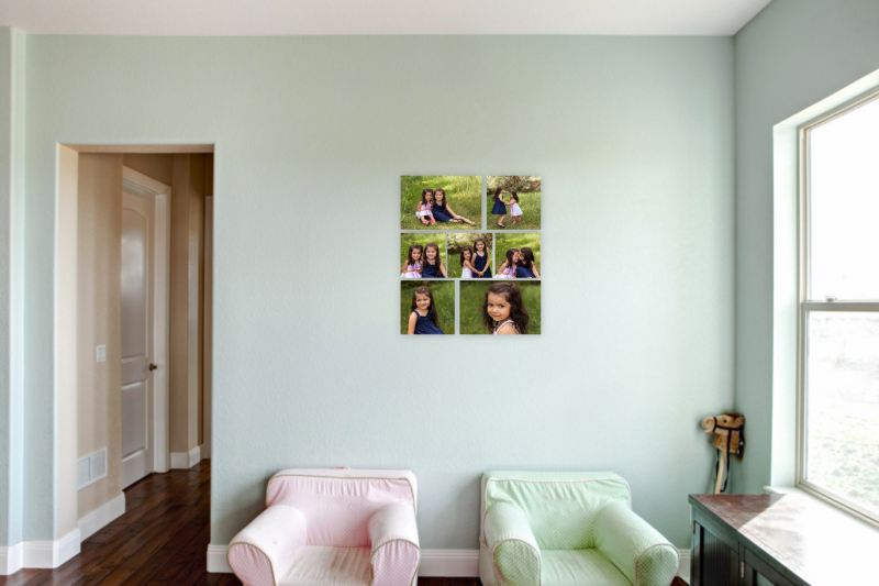 Wall portrait display Adored by Meghan Rickard photography