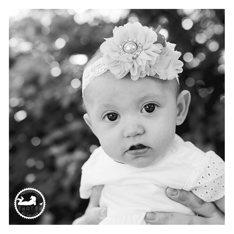 Black and white portrait of a beautiful Daughter. Photo by Adored by Meghan Rickard Photography in Pasco, WA