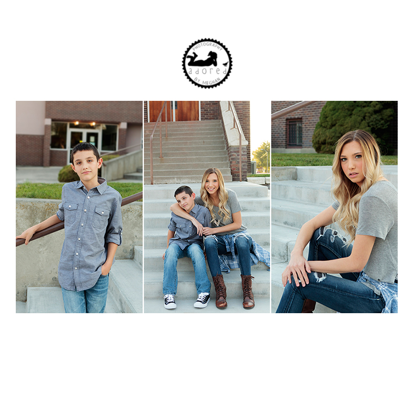 Tri-Cities, WA Family Photographer Siblings. Downtown Kennewick