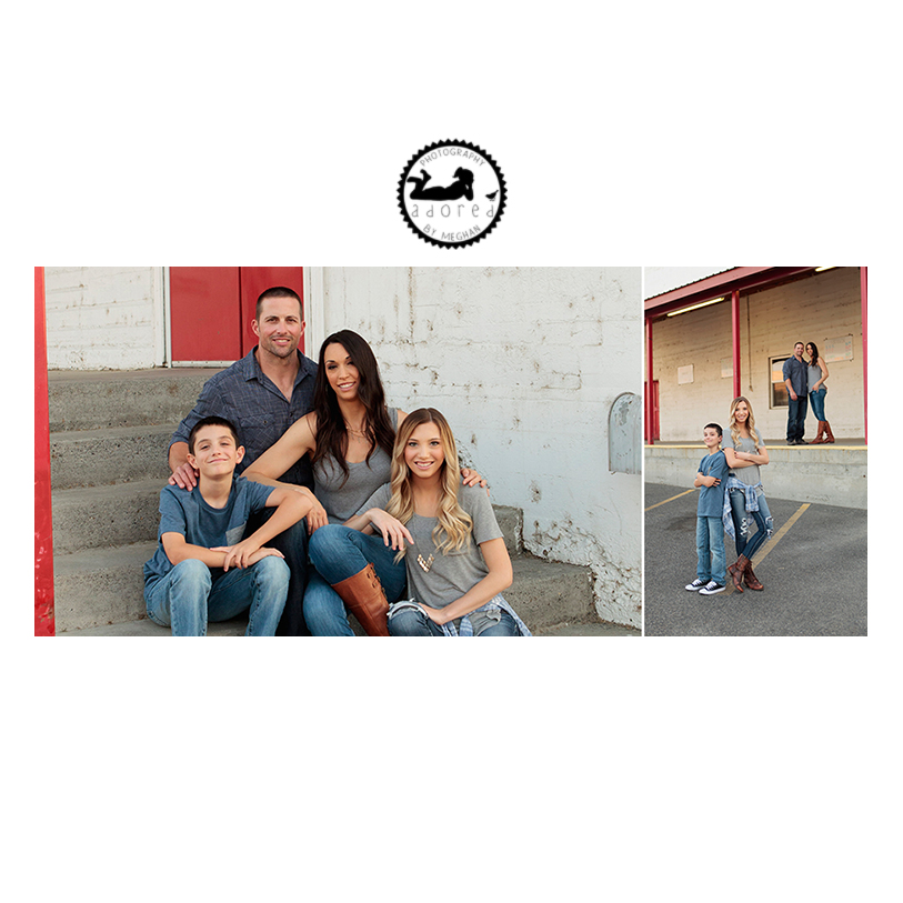 Family portraits in Downtown Kennewick at Farmer's Exchange. Photographer Adored by Meghan