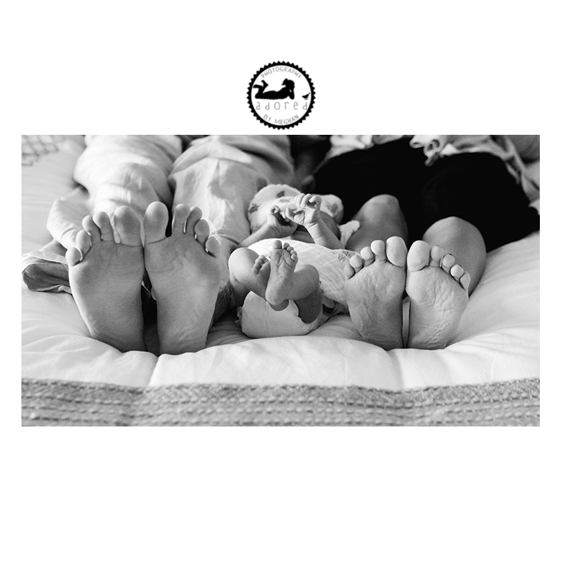 A new pair of feet to travel the world with. Richland, WA lifestyle newborn and family photographer Adored by Meghan.