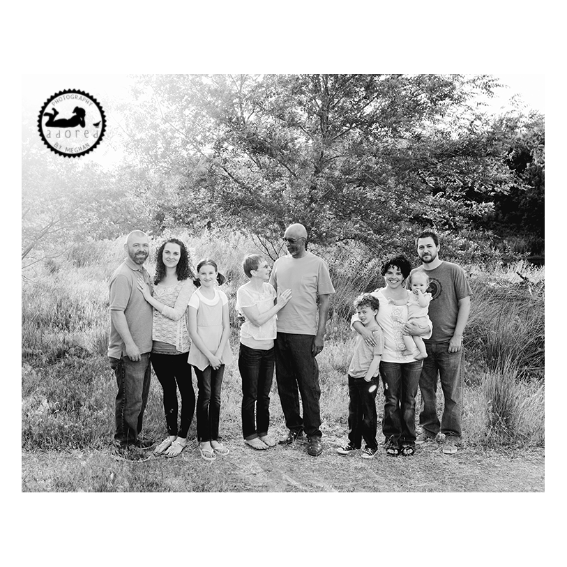 2015 Black & White Favorite Family Photo 3 three generations in West Richland, WA