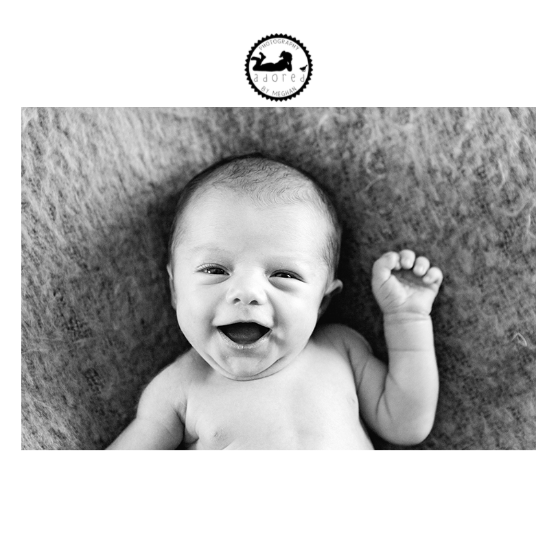 2015 Black & White Newborn Favorite Smiling Newborn