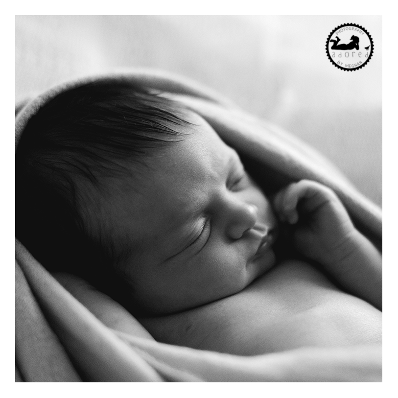 2015 Black & White Newborn Favorite Beautiful Profile