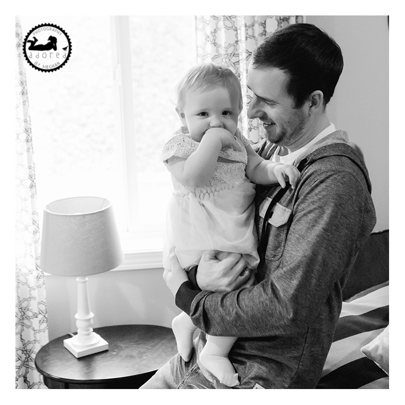Kennewick, WA Fatherhood portrait on Daughter's First Birthday. Photographer: Adored by Meghan