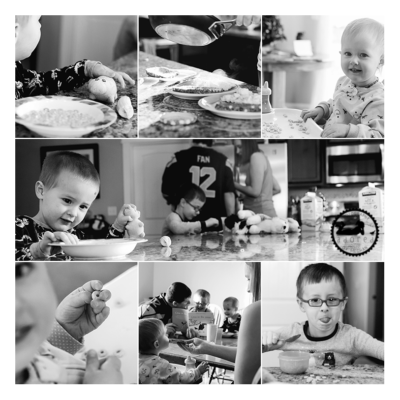 Lifestyle in-home family session with Adored by Meghan in Kennewick, WA.