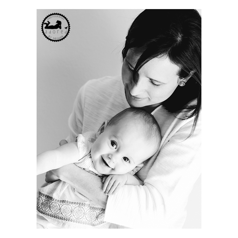 #motherhoodadored photographer Adored by Meghan loves black and white portraits of Mother and Daughter