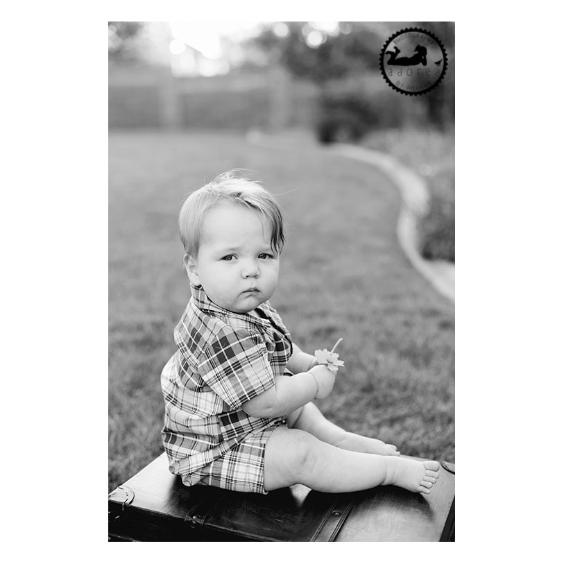 Black and White baby portrait. Adored by Meghan Rickard Photography, Kennewick, WA