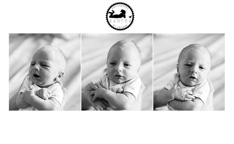 Awake baby newborn photos. Fresh 48 session by Adored by Meghan.