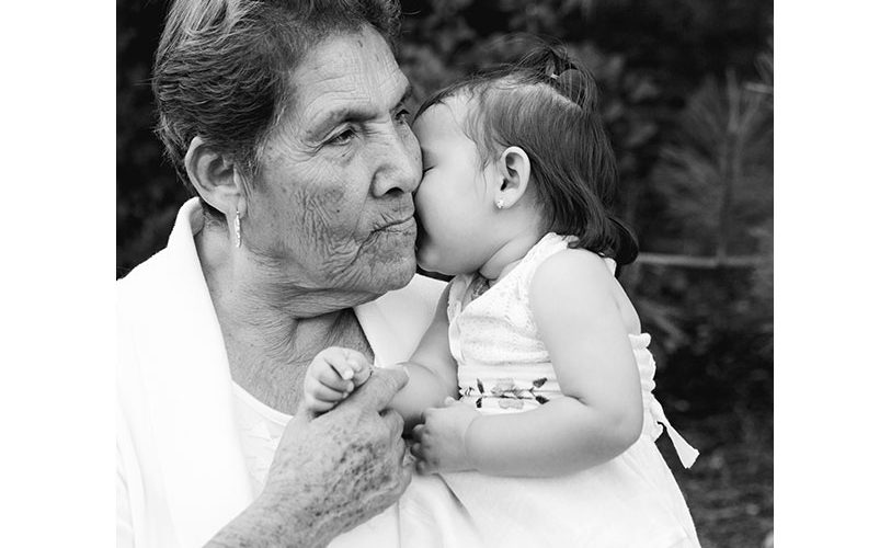 Baby girl with her Great Grandmother. Generational photo by Adored by Meghan, Richland, WA.