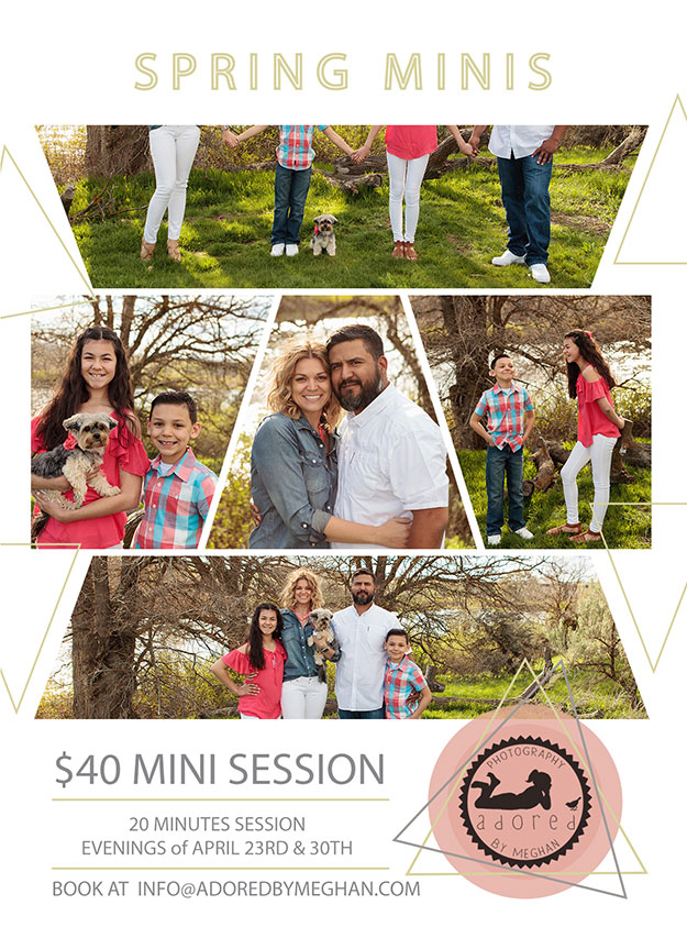 Spring Mini-Sessions with Adored by Meghan, Tri-Cities, WA