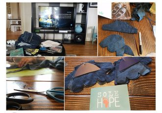 Sole Hope shoe cutting party with our Young Living Oily Tribe team