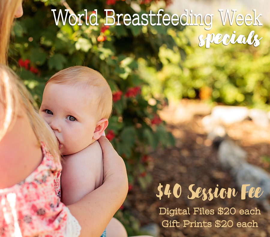 Celebrate World Breastfeeding Week with a Nursing mini-session with Adored by Meghan in the Tri-Cities, WA.