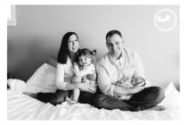 Family portrait during an in home lifestyle newborn portrait session with Adored by Meghan, out of Kennewick, WA