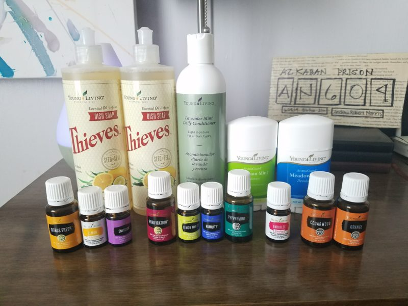 Monthly Essential Rewards order from Young Living. Nearly a one-stop shop for all your wellness needs.