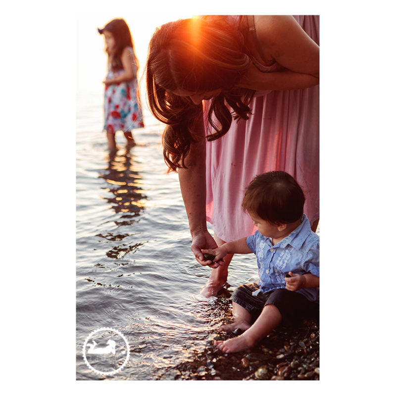 Family lifestyle portraits along the Columbia River with photographer Adored by Meghan.