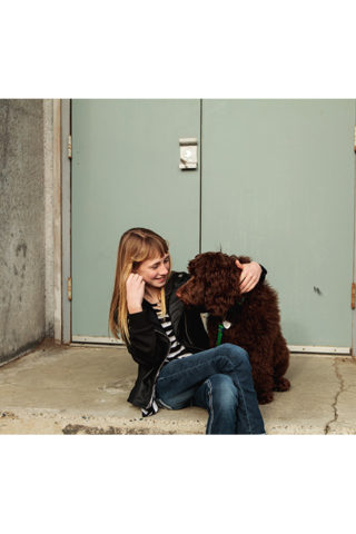 When a girl wants photos with her dog, you snap some photos of her with her puppy! Mix in a little bit of Urban with some Converse sneakers, and you're bound to end up with some killer portraits! Photographed by Adored by Meghan, Richland, WA.