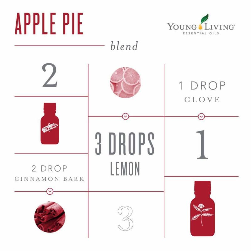 Apply Pie diffuser combo by Young Living: Cinnamon Bark, Lemon, Clove