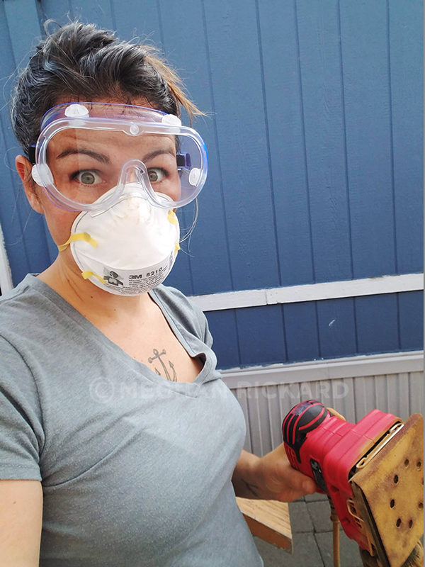 In action sanding, with proper protection of course