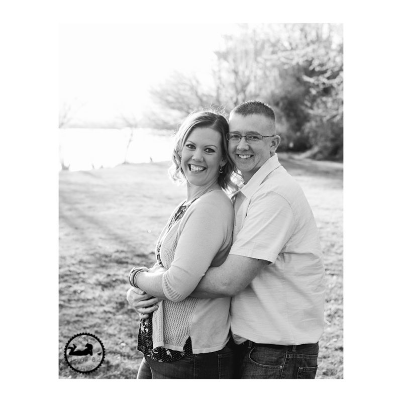 Black and white photo of Mom & Dad during a family portrait session with Adored by Meghan, Tri-Cities, WA.