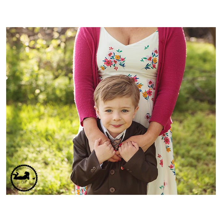 Photos of a Mother and Son during Spring mini-session photos with Adored by Meghan