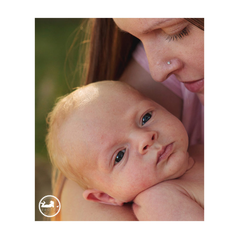 Portrait of Mom and newborn during nursing photos by Adored by Meghan Tri-Cities, WA